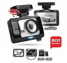 "Lukas LK-9370 Blackbox Dash Camera 2CH Full HD Wi-Fi 3.5""LCD Dual 8Gb+8Gb+GPS image 1"