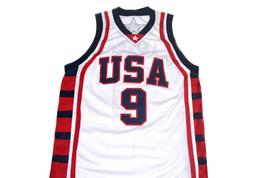 Lebron James #9 Team USA Men Basketball Jersey White Any Size image 4