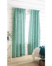 "2 Target Threshold Farrah Greek Key Curtain Panels PAIR Green 84"" New - $35.99"