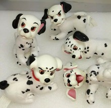 101 Dalmatians 5 inch plastic head plush body 5 mini pups Disney  - $19.01