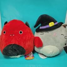 "Halloween Squishmallow 12"" Flip A Mallow Tally Cat Witch Dante Devil Bat... - $43.55"