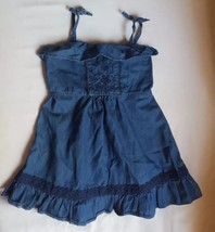 4 Years Baby Gap Toddlers Girls Adorable Blue Denim Dress gently used ni... - $14.95