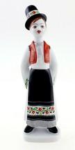 Hungarian Porcelain Hollohaza Boy Figurine in Traditional Dress - $26.19