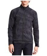 Calvin Klein Men's Space-Dye Front-Zip Jacket Black 2XL - $58.41