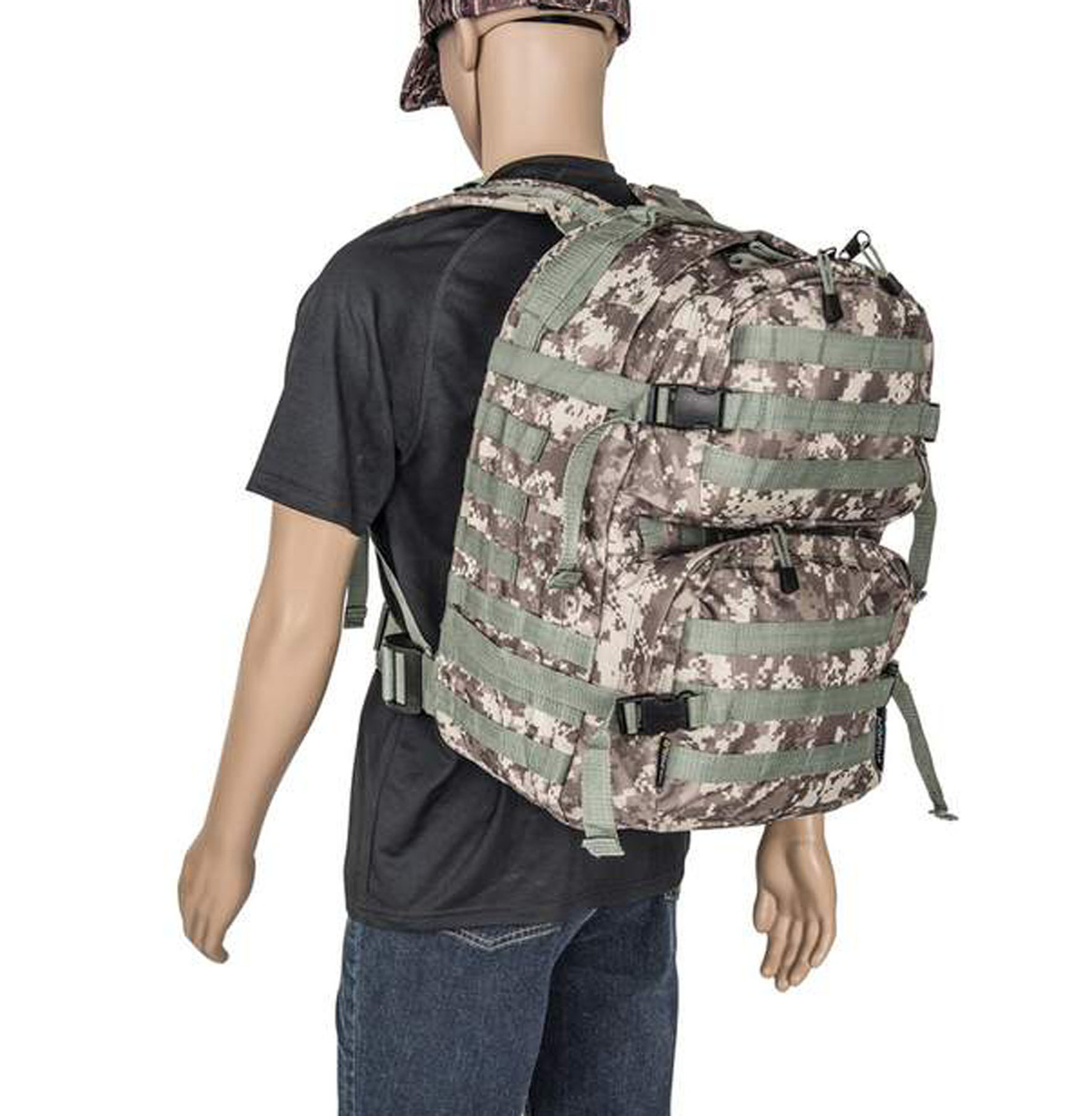 Digital camo army backpack w person 1800 lubpadc