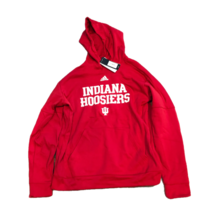NWT New Indiana Hoosiers adidas Climawarm Pullover Large Hooded Sweatshirt - $54.40
