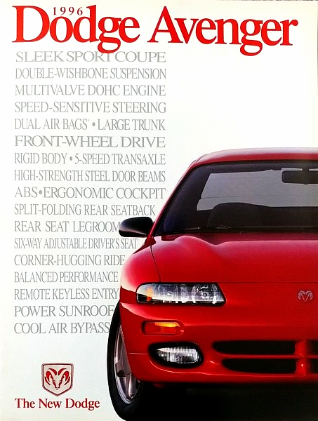 Primary image for 1996 Dodge AVENGER sales brochure catalog US 96 ES