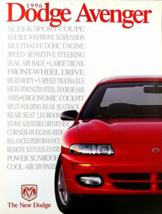 1996 Dodge AVENGER sales brochure catalog US 96 ES - $8.00