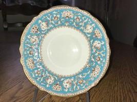 Crown Staffordshire Ellesmere Turquoise Tea Saucer Vintage China A14994 - $7.31