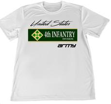 United States Army Fourth Infantry Wicking T-Shirt w Flag Car Coaster - $14.80+