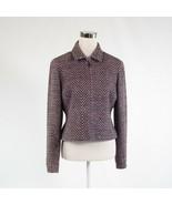 Dark purple textured 100% silk DONCASTER long sleeve blazer jacket 8 - $34.99