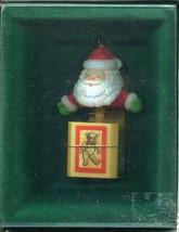 1984 New in Box - Enesco Christmas Ornament - Santa-In-The-Box - $7.91