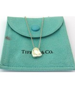 Authentic TIFFANY & CO Sterling Silver Full Heart Pendant Necklace - $91.11