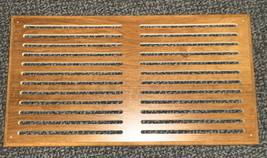 "Wilshire Bank Adler Robert Weed Wood Vent Grille Cover 12"" X 22"" X 3/8"" ... - $24.75"