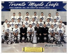 NHL 1947 - 48 Toronto Maple Leafs Stanley Cup Champs Team Picture 8 X 10 Photo  - $5.99