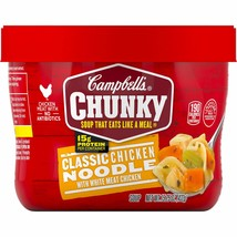 Campbell's Chunky Classic Chicken Noodle Soup Microwavable Bowl, 15.25 o... - $17.50