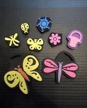 Chunky Stamps Lot 8 Foam Butterfly Dragonfly Flower Basket Ladybug Sun      - $18.60