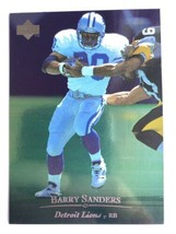 1996 Upper Deck #130 Barry Sanders Detroit Lions HOF NFL Football Card - $0.99