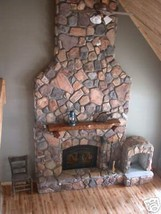 #OAF-50 Fieldstone Veneer Concrete Stone Molds to Make 100s of Fireplace Stones image 2
