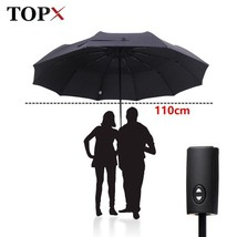 TopX® 110cm Big Automatic Quality Double Layer Umbrella 3Fold Windproof - $42.63