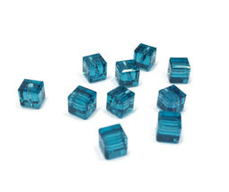 4pcs - 4mm Swarovski Crystal Cube Beads #5601 - You Choose The Color image 5