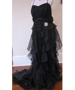 Gorgeous Black Ruffle Formal Dress NWT $250 - $99.00