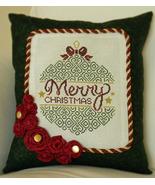 Merry Christmas cross stitch chart Cherry Hill Stitchery - $7.20