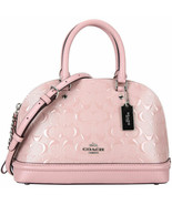 Coach Mini Sierra Crossbody Bag Blush 2 Pink Debossed Patent F27597 NWT ... - $134.05
