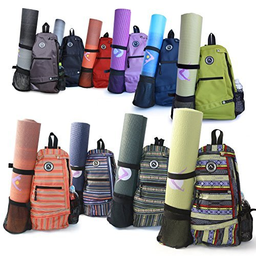 Aurorae Yoga Mat Bag. Multi Purpose Cross-body Sling Back Pack. Mat sold separat