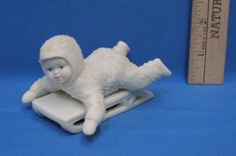Snowbabies Dept Department 56 Figurine Winter Tales Hold On Tight Sleddi... - $8.90