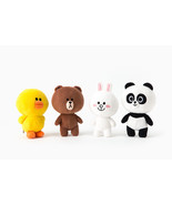 "LINE Friends Season 4 Doll 18cm(7"") 4 Types Plush Toys Stuffed Animals D... - $26.99"