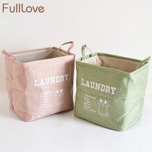 FULLLOVE® Folding Laundry Basket Letter Printed Pink Toys Cotton Case - $21.72