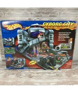 New Rare Hot Wheels Cyborg City Playset Motorized Power Charger Booster ... - $173.20
