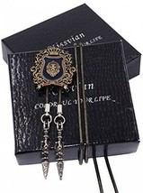 Kissvian Vintage Lion Crown Badge Bolo Tie Dual Use Shirt Necklace Meda... - $32.91