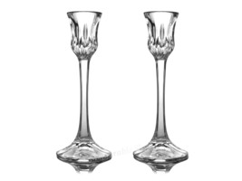 Tall Single Light Candlestick Althea Cut Gorham Full Lead Crystal Candle... - $48.00