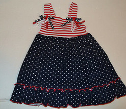Good Lad Apparel Toddler  Girls Dress Size 12M  18M NWT Red White Blue - $8.44