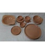 """4 place setting of vintage Russel Wright """"American Modern"""" coral dinnerware - $45.00"""