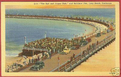 LONG BEACH CALIFORNIA Rainbow Pier Spit Argue Club CA