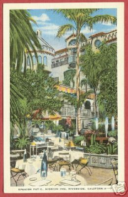 Primary image for RIVERSIDE CA Mission Inn Patio Linen Miller PC BJs