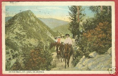 MT LOWE CA Trail Horses Riders California 1924 BJs