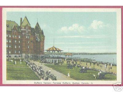 Dufferin Terrance Terrasse Quebec Canada 1936