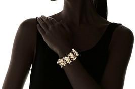 David Aubrey Hadrien USA Made Chain & Simulated Pearl Fringe Bracelet NWT image 2