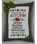 Welcome To Autumn cross stitch chart Cherry Hill Stitchery - $7.20