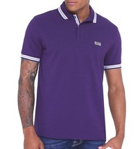 NEW HUGO BOSS MEN'S COTTON GREEN TAG SPORT POLO SHIRT T-SHIRT PURPLE size XL