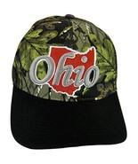 State of Ohio Men's Adjustable Baseball Cap with Outline (Camo/Black) - $11.95