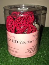 New Set Of 10 Valentine's Day Red Grapevine Heart Lights LED Battery Operated - $16.82