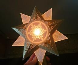 Hallmark 2005 Illuminations Starlight Tree Topper Star XMAS WITH Power Box - $39.59