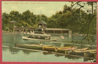 NY NEW YORK Central Park Boat House Boats Steamer BJs