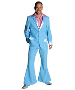 "70's Deluxe LIGHT BLUE  Pimp / Disco / PROM  Suit , sizes 38-50"" chest  - $47.34+"