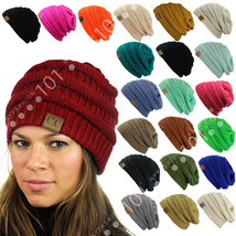 CC Beanie New Womens Knit Slouchy Oversized Thick Cap Hat Unisex Slouch ... - $8.50+